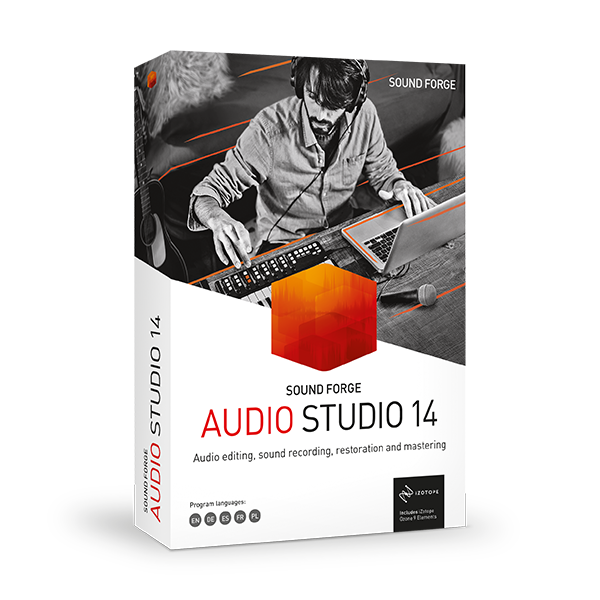 Sound Forge AUDIO STUDIO 14 obal krabice
